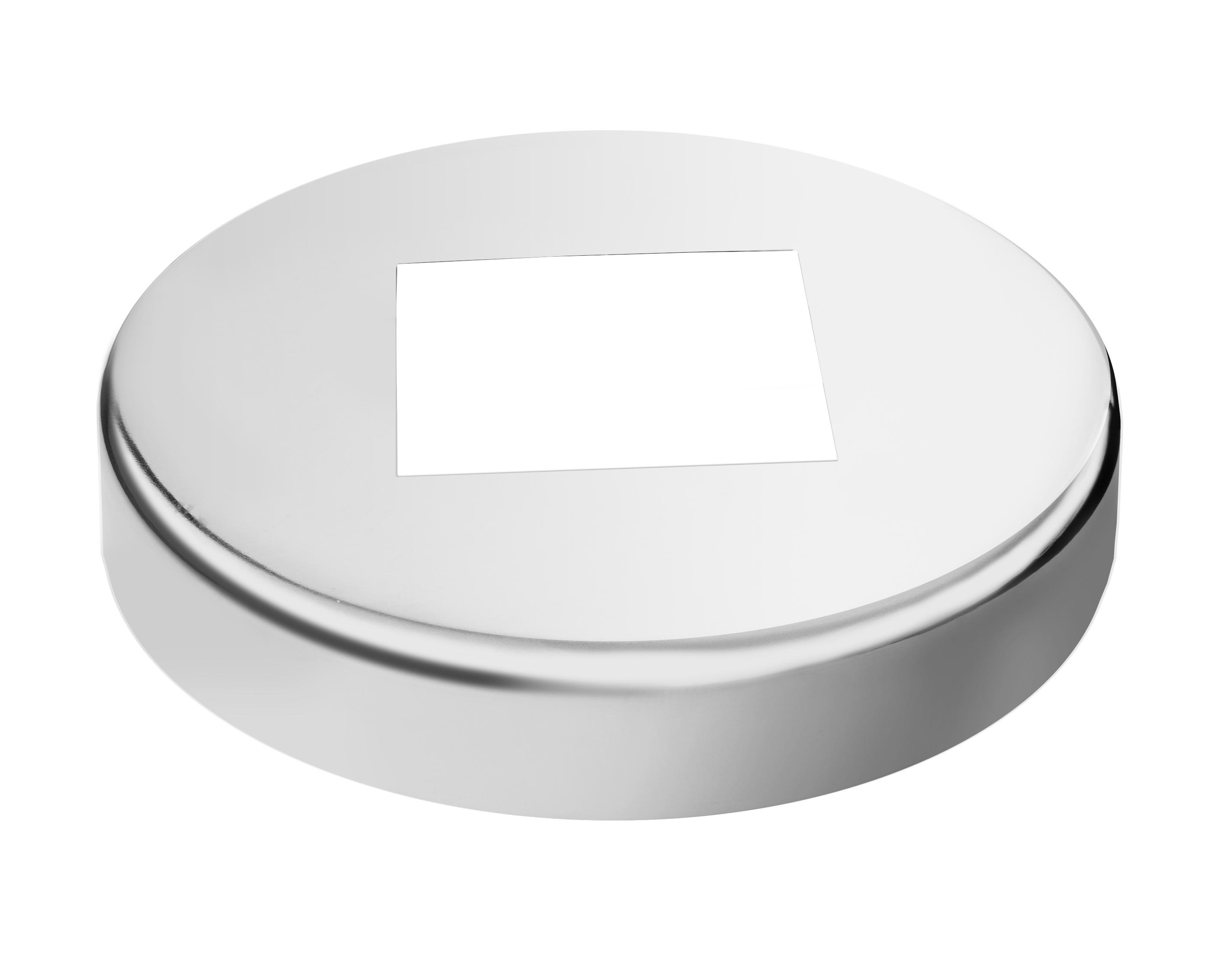 Embellecedor cilíndrico para tubo cuadrado